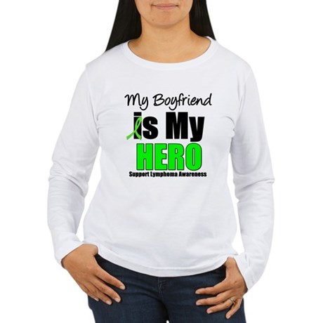 Lymphoma Hero (Boyfriend) Women's Long Sleeve T-Sh