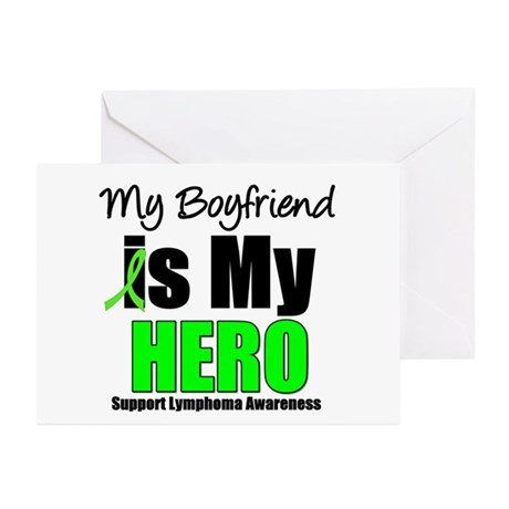 Lymphoma Hero (Boyfriend) Greeting Cards (Pk of 10