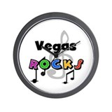 Vegas Rocks Wall Clock