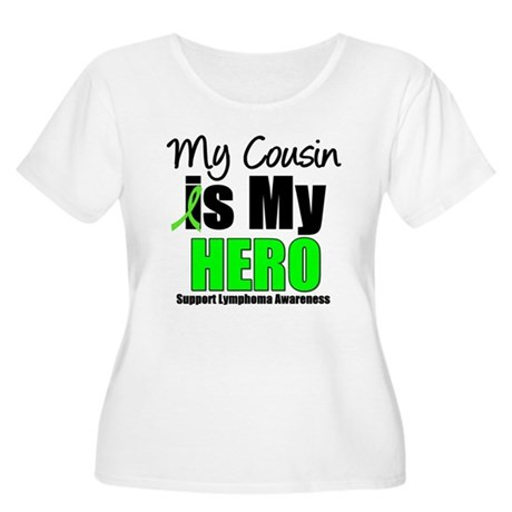 Lymphoma Hero (Cousin) Women's Plus Size Scoop Nec
