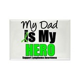 Lymphoma Hero (Dad) Rectangle Magnet (10 pack)