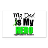 Lymphoma Hero (Dad) Rectangle Sticker 10 pk)