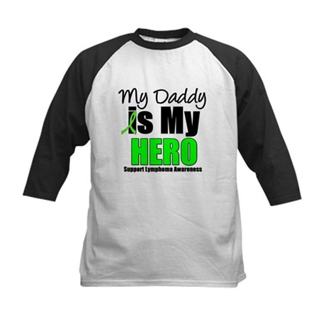Lymphoma Hero (Daddy) Kids Baseball Jersey