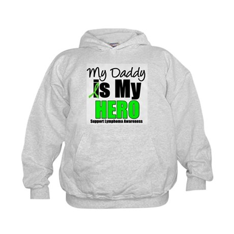 Lymphoma Hero (Daddy) Kids Hoodie