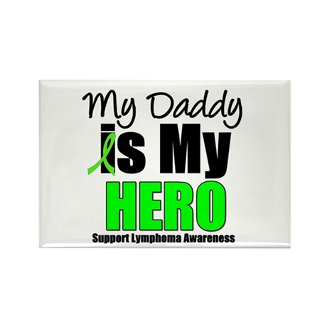 Lymphoma Hero (Daddy) Rectangle Magnet (10 pack)