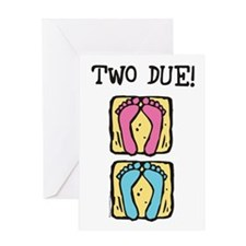 Two Due! Twin Shower Invitation