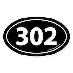 302 Auto Bumper Oval Sticker -Black