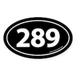 289 Auto Bumper Oval Sticker -Black