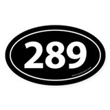 289 Auto Bumper Oval Sticker -Black