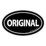 Original Car Bumper Oval Sticker -Black
