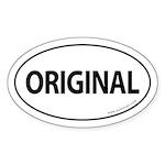 Original Car Bumper Oval Sticker -White