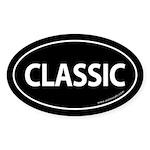 Classic Car Bumper Oval Sticker -Black