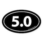 5.0 Auto Bumper Oval Sticker -Black