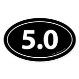 5.0 Auto Bumper Oval Sticker -Black