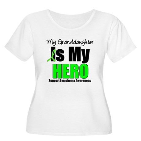Lymphoma Hero (GD) Women's Plus Size Scoop Neck T-