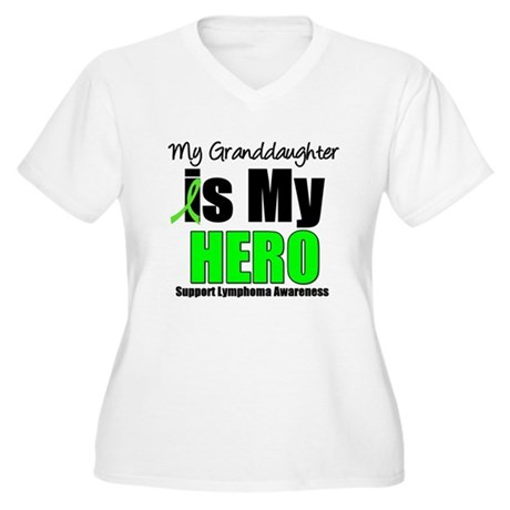Lymphoma Hero (GD) Women's Plus Size V-Neck T-Shir