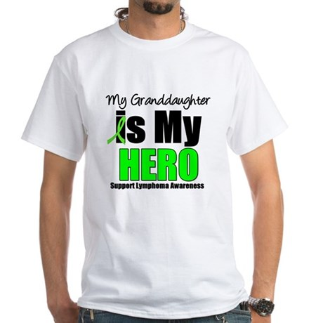 Lymphoma Hero (GD) White T-Shirt