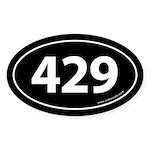 429 Auto Bumper Oval Sticker -Black