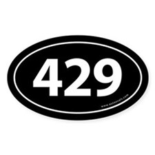 429 Auto Bumper Oval Sticker -Black