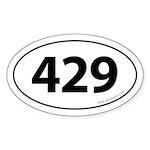 429 Auto Bumper Oval Sticker -White