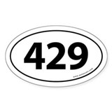 429 Auto Bumper Oval Sticker -White