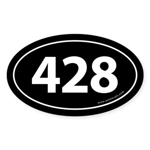 428 Auto Bumper Oval Sticker -Black