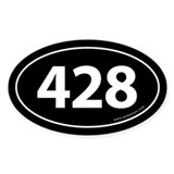 428 Auto Bumper Oval Sticker -Black