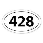428 Auto Bumper Oval Sticker -White