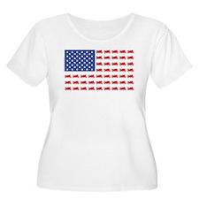 Sportbike Motorcycle Patriotic Flag T-Shirt