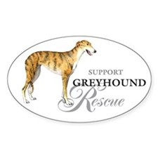 Greyhound Rescue Oval Decal