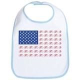 Bicycle Patriotic Flag Bib