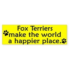 Happy Place Fox Terrier Bumper Bumper Sticker