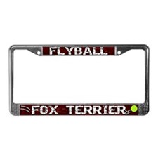 Flyball Fox Terrier License Plate Frame