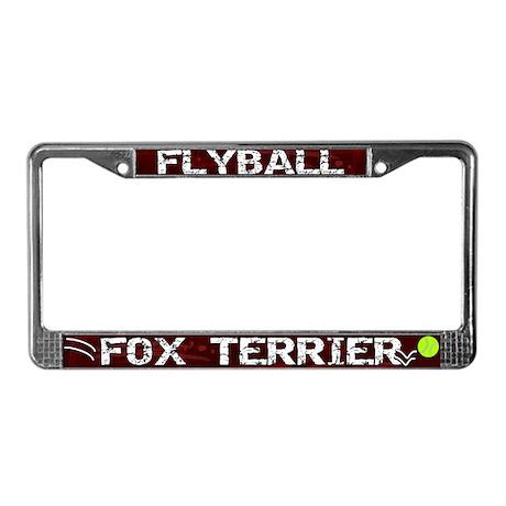 Flyball Fox Terrier License Plate Frame