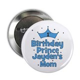 1st Birthday Prince Jayden's 2.25&amp;quot; Button