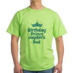 1st Birthday Prince Jayden's Green T-Shirt