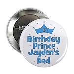 """1st Birthday Prince Jayden's 2.25"""" Button"""