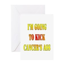 Kick Cancer's Ass Greeting Card