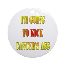 Kick Cancer's Ass Ornament (Round)