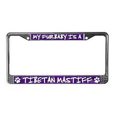 Furbaby Tibetan Mastiff License Plate Frame
