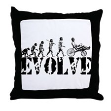 Recumbent Bicycle Throw Pillow