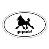 Got Poodle? Oval Decal