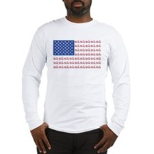 Motorcycle Flag with Shadow Long Sleeve T-Shirt