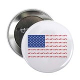 "Chopper Motorcycle Flag 2.25"" Button"