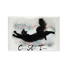 Cat Angel Rectangle Magnet