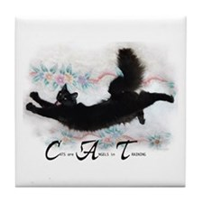 Cat Angel Tile Coaster