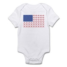 Motocross Bike patriotic Flag Infant Bodysuit