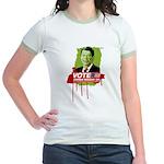 Vote Zombie Reagan in 2008 Jr. Ringer T-Shirt