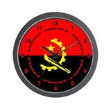 Angolan Flag Wall Clock