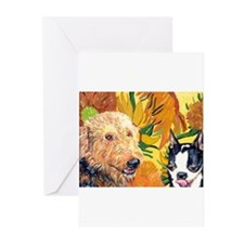 Unique Airedales Greeting Cards (Pk of 10)